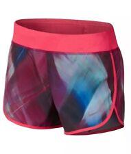 Nike Dri-Dit Printed Running Shorts Girls Size Medium Vivid Pink Racer Pink