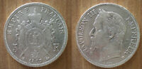 France 5 Francs 1867 Silver Coin Mint BB Strasbourg Napoleon 3 Franc Free Shp