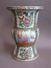 19th Century Chinese FAMILLE ROSE PORCELAIN Gu Form VASE