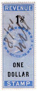 (I.B) Malaya (Straits Settlements) Revenue : Duty Stamp $1