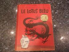 tintin le lotus bleu  4e plat b2 1948