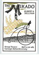 EDWARD GOREY Posters For The Mikado Gilbert & Sullivan Art Poster Book Page