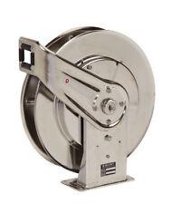 "Reelcraft 7800 OLS 1/2"" X 50' Stainless Steel Retractable Hose Reel"