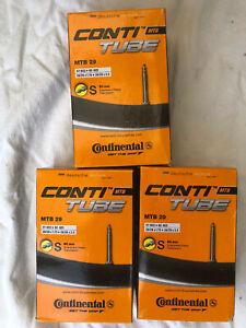 """Continental 29"""" Mountain Bike Inner Tubes 1.75-2.5"""" 60mm Valve 3 Pack *New* MTB"""