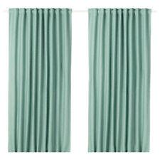 "Ikea VILBORG Curtains 2 Panels (1 pair) Green 57"" x 98"""