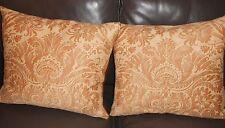Throw pillows Fortuny fabric De'Medici Apricot new Custom designer pillows PAIR