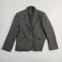 Zachary's Smile White Label Womens Blazer Coat Jacket Gray Wool Blend Ladies L