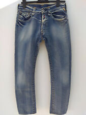 Excellent Mens Replay Sabik MV920a Blue Jeans Button Fly Wash Stretch 33X32