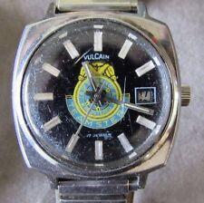 Vintage Vulcain Teamsters Union Mechanical Wrist Watch Swiss Date