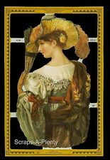 Die Cut Scrap Mamelok English - Classical Woman  (Archives Collection)  A138