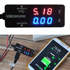 DC 10V 0-3A USB Charger Detector Dual Digital led Voltmeter Ammeter Tester meter