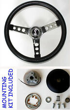 1970-1978 Mustang II Torino Grant Black Steering Wheel 13 1/2 Cobra Snake Center