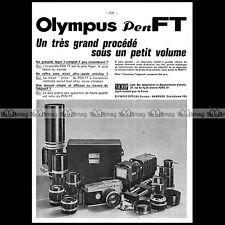 Olympus pen ft slr camera 18x24 1968-pub/advertising/ad #a1525
