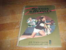 1990 Benson & Hedges Open Tennis Program ASB Tennis Centre