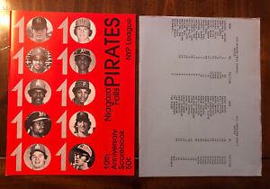 1979 NYPL Niagara Falls Pirates Baseball Program Roster W/Insert Jamestown Expos