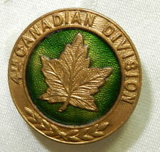 WW1 4th CANADIAN DIVISION ENAMEL SWEETHEART LAPEL BADGE WORLD WAR I CANADA