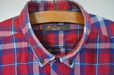Ben Sherman red check shirt size XL casual mod skin