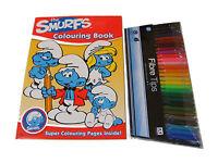 THE SMURFS color / Para Colorear Libro y 30 color ROTULADORES