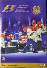 RAC BRITISH GRAND PRIX FORMULA ONE F1 1999 Silverstone Official Race Program