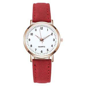 Quartz Luminous Waterproof Leather Band Strap Wristwatch