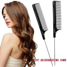 Fine-tooth Metal Pin Hair Comb Rat Tail Combs Black Plastic Beauty Tools d