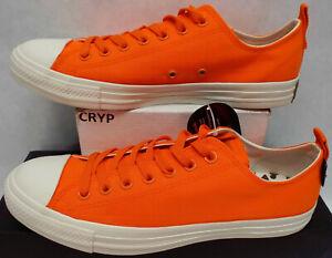New Mens 9.5 Converse CTAS OX Bold Manda Blaze Orange $65 161435F Womens 11.5