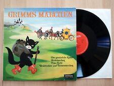 Grimms Märchen Rotkäppchen Frau Holle Gestiefelte Kater Hörspiel LP Vinyl, 067