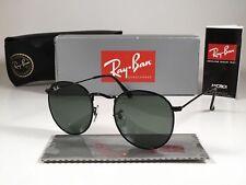 2cf839ee4 New RayBan Sunglasses Round RB 3447 002 50mm G-15 Green Lens Black Frame