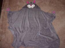 Living Better Fleece Gray Kitten Hooded Blanket Fleece Blanket Girl VGC!!!