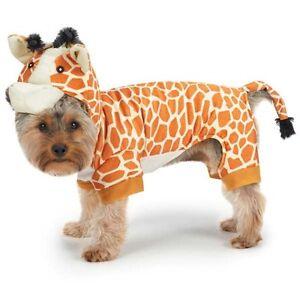 GIRAFFE Dog Costume Ultra-Soft Plush Adjustable Hook/Loop Closure Full-Body