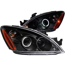 FOR MITSUBISHI LANCER 2004-2007 PROJECTOR HEADLIGHTS HALO BLACK CLEAR (CCFL)