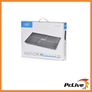 "Deepcool Multi Core X8 Notebook Cooler Upto 15.6"" 4x 100mm Fans Control 2x USB"