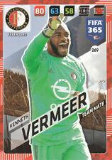 Panini Adrenalyn XL FIFA 365 2018 #269 Kenneth Vermeer Feyenoord Rotterdam