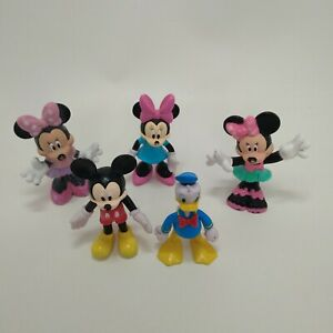 Disney Mickey Mouse Donald Duck Minnie Mouse figurines lot of  5