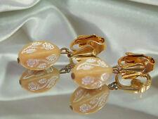 Feminine & Pretty Vintage 1950's-60's Thermoset Dangle Earrings  3078jl