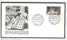 1964 -FDC 1°JOUR-PRELUDE EXPOSITION PHILATEC -TIMBRE 12F.CFA