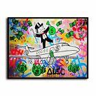 Alec Monopoly Rich man's plane HD Canvas Print Home Decor Wall Art Pictures