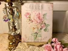 Chateau, Shabby Chic Roses, Romantic, Sign / Plaque
