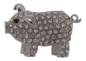 Silver Plated Little Pig Brooch Piglet Brooch Pig Brooch