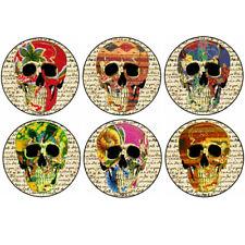 SUGAR SKULLS button set day of the dead dia de los muertos punk pin badge emo