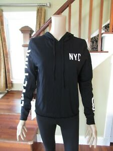 Victoria's Secret PINK Woman's NYC Light Weight Long Sleeve Pull Over Hoodie S/P
