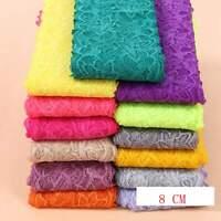 Delicate 1 yard Elastic/Spandex lace trim Soft Flower Floral trim 22 Colors 765
