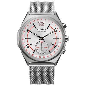 Citizen Connected Men's Bluetooth Milanese Band 42mm Smart Watch CX0000-71A