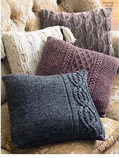 cushion covers aran knitting pattern