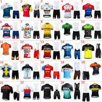2019 Mens cycling jersey bib shorts sets cycling bib shorts cycling jerseys
