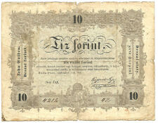 Hungary - 10 Forint - 1848 / Revolutionary War Issue_P#S117_Brown type