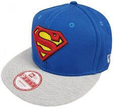 New Era Superman Jersey Team Snap Snapback Cap Blue Grey S M 9fifty Basecaps New