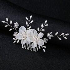 Bride Hair Comb Flower Pearl Wedding Women Jewelry Elegant Headpiece Hairpin