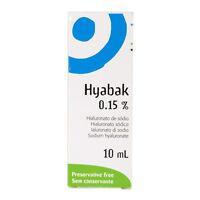 Hyabak Preservative Free Eye Drops for Dry Eyes 10ml - Multibuy