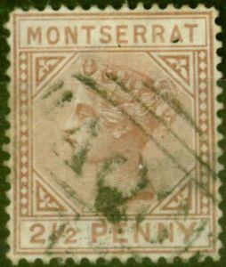 Montserrat 1880 2 1/2d Red-Brown SG4 Good Used